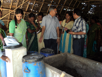 Community vermicompost unit at Allivilagam village of Nagapattinam