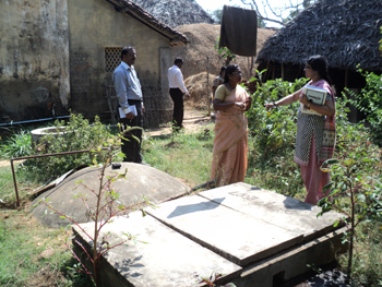 Bio gas unit constructed in Allivilagam village