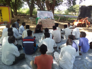 Classroom session of the training programme