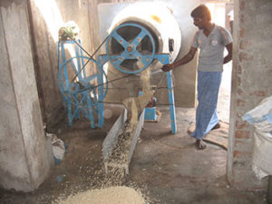 A Puffed rice unit visited at Polur