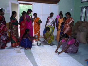Practical training session on value addition - rice vadam preparation