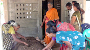 Community vermicompost production unit - Income generation for women beneficiaries