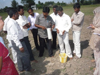 Practical sessions of the staff capacity building training on soil health analysis
