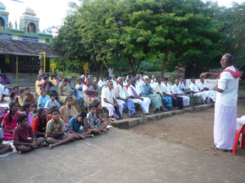 Participants of the organic farming festival conducted in Thiruvannamalai district