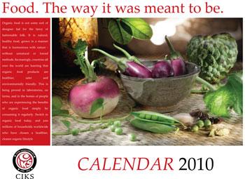Calendar on Organic Foods 2010