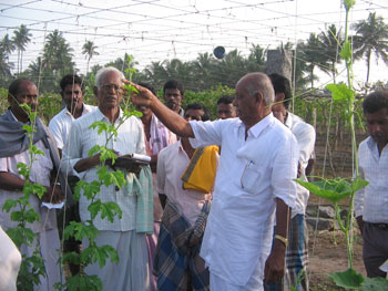 armers participated in exposure visit to organic farms