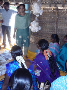 Demonstration of mushroom cultivation for Kancheepuram beneficiaries